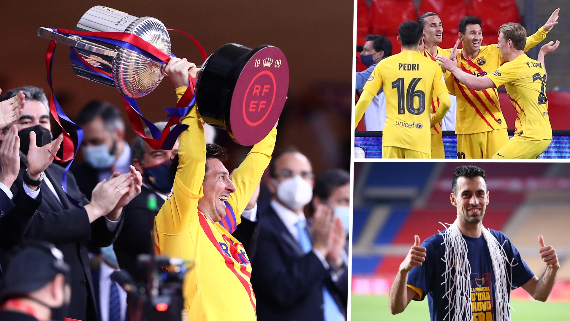 The return of the king! Messi reclaims Barcelona's Copa crown on a perfect night for Koeman & Laporta