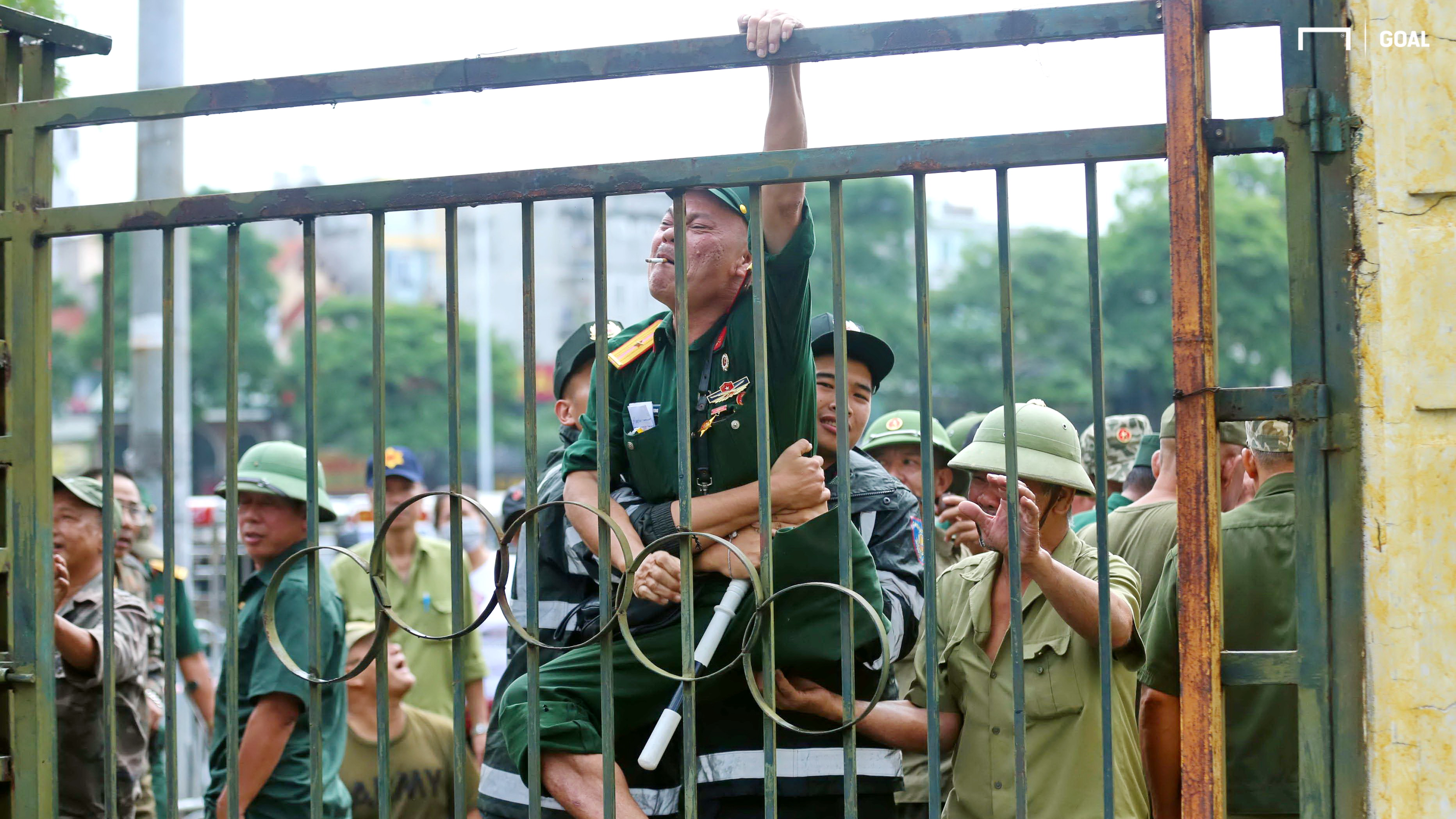 Vietnamese veterans buying ticket, prior to Vietnam vs Malaysia - World Cup 2022 qualifiers