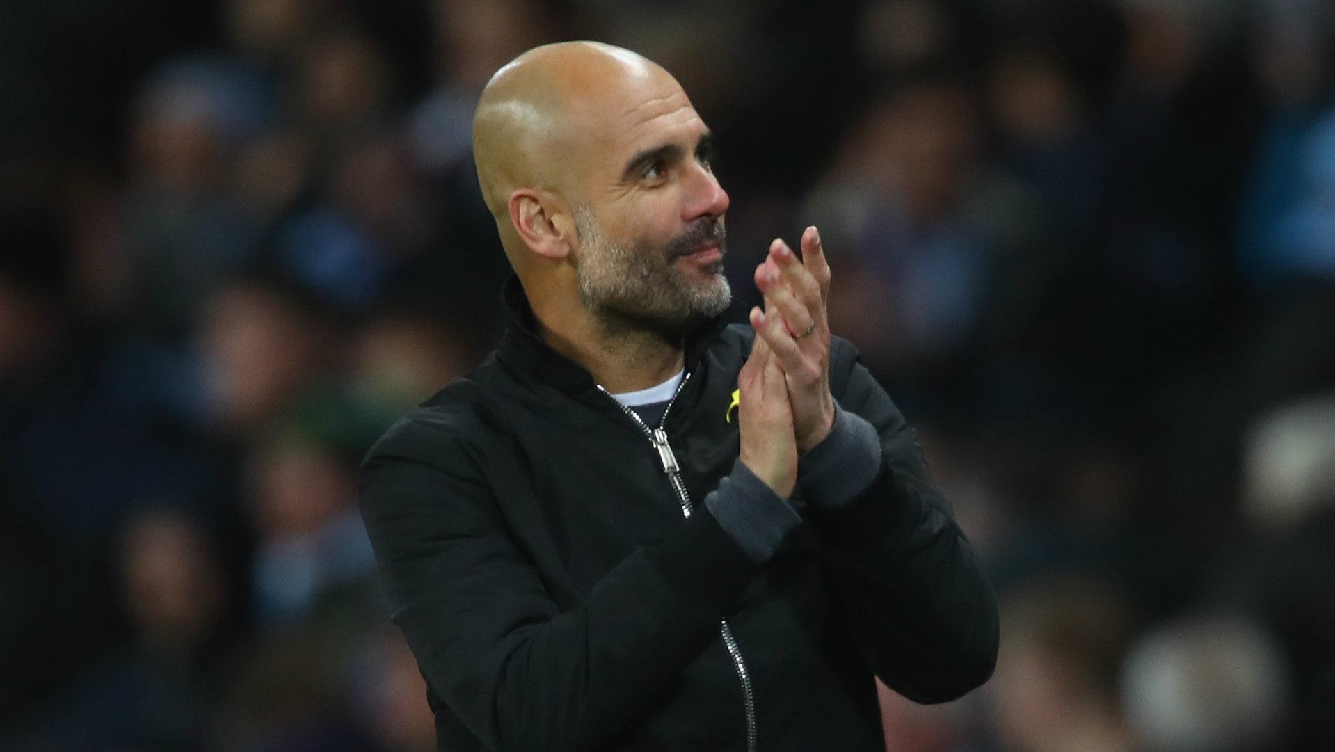 Pep Guardiola, Manchester City vs West Ham, 17/18