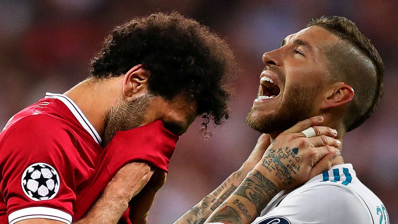 Mohamed Salah Sergio Ramos composite