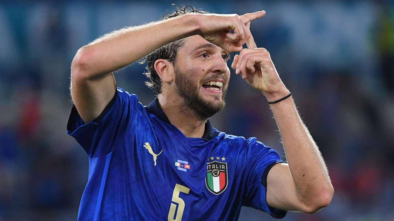 Locatelli Italy Switzerland celebrating Euro