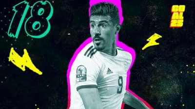 Goal 25 2020 18 Baghdad Bounedjah Al-Sadd Algeria