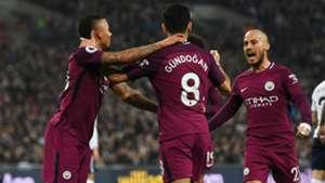Ilkay Gundogan Gabriel Jesus David Silva Manchester City Tottenham
