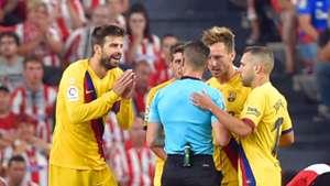 Gerard Piqué Rakitic Jordi Alba Del Cerro Grande Athletic Barcelona LaLiga