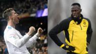 Ronaldo, Usain Bolt
