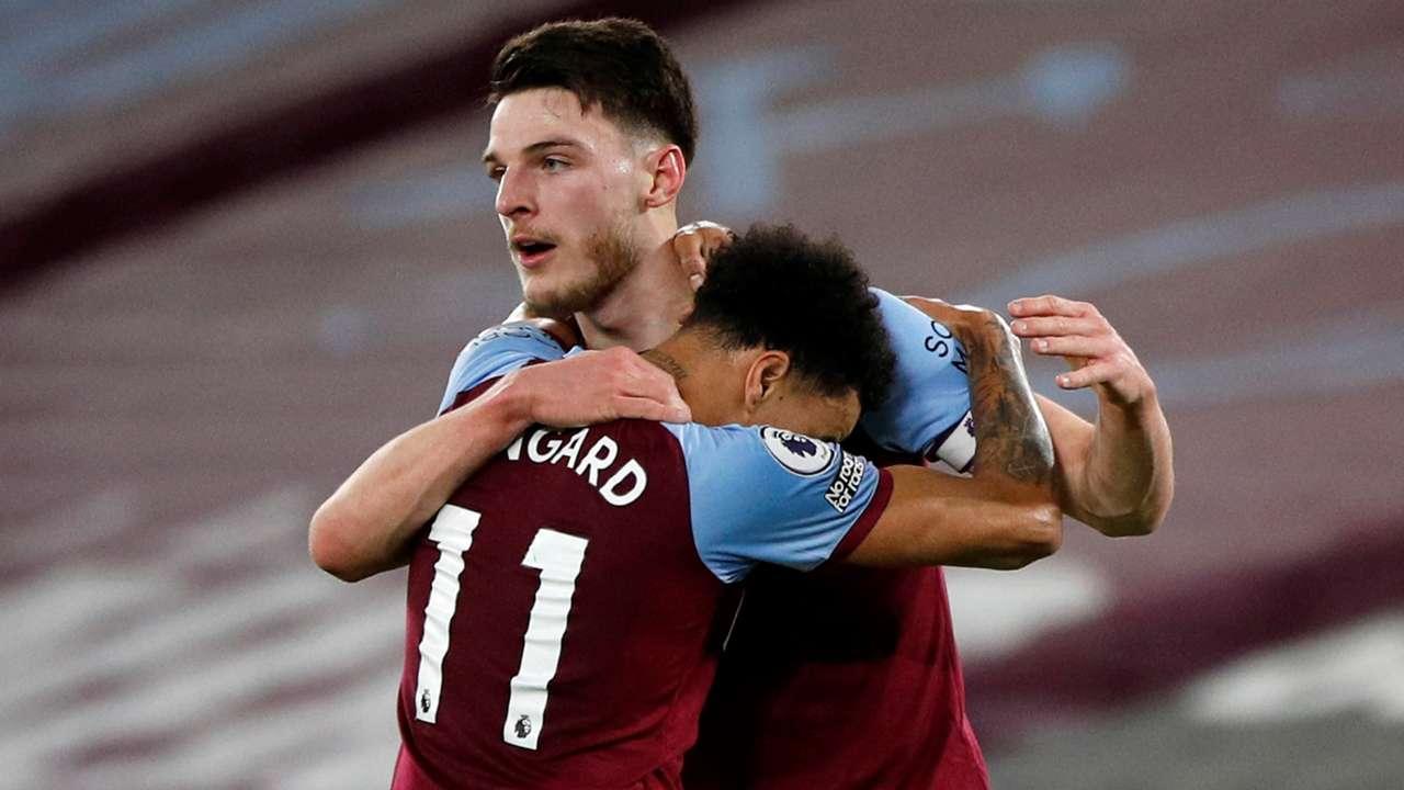 Jesse Lingard, Declan Rice, West Ham 2020-21