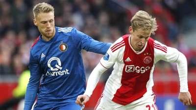 Nicolai Jorgensen Feyenoord Frenkie de Jong Ajax 2018