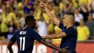 Bobby Wood Tim Weah USA USMNT Colombia 11102018