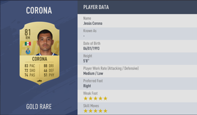 Jesus Corona | FIFA 19