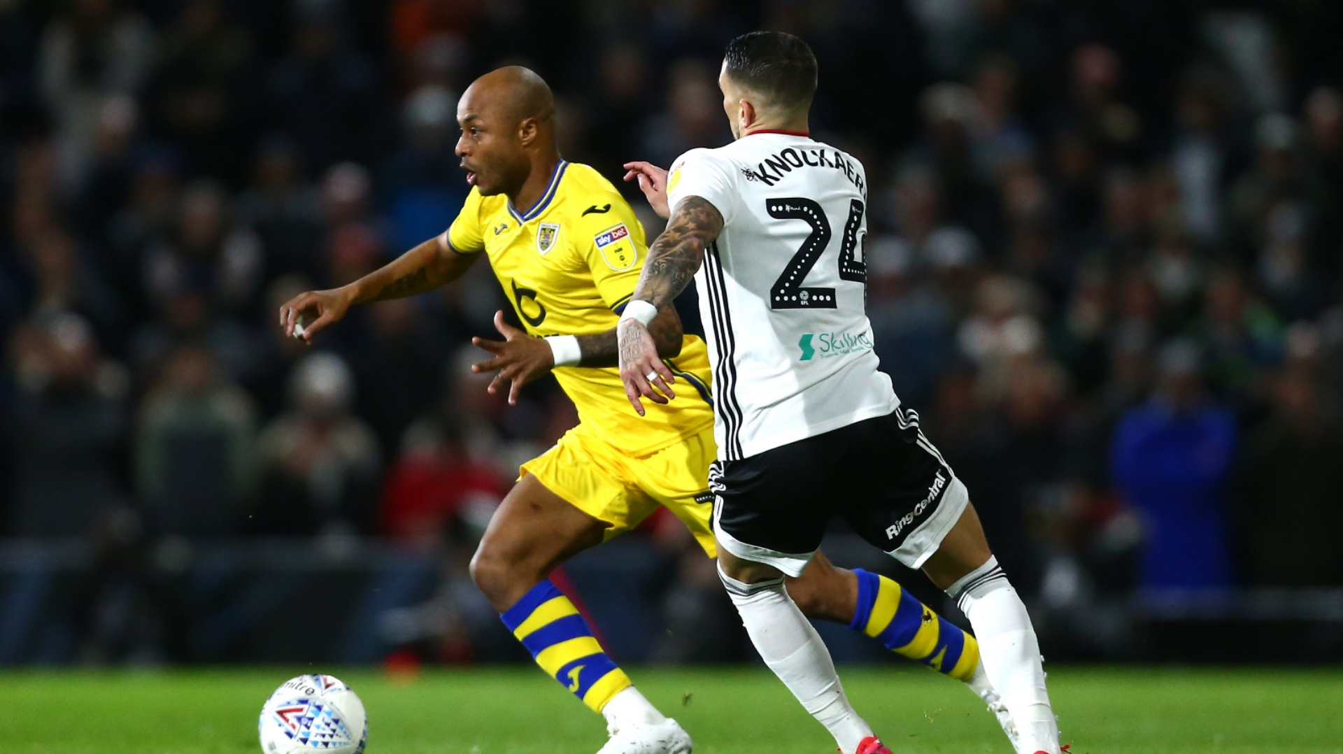 Andre Ayew's Swansea City keep promotion hopes alive with win over ...