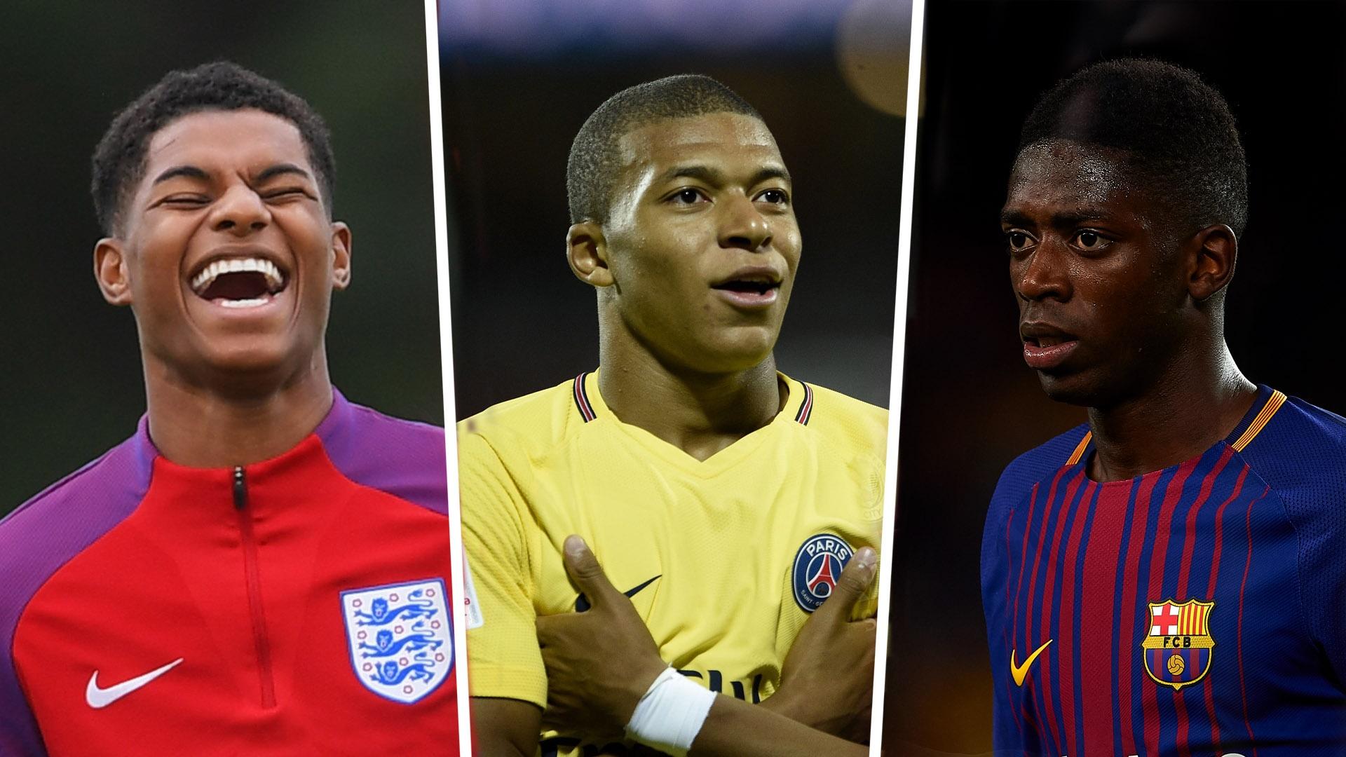 Golden Boy Nominees Marcus Rashford Kylian Mbappe And Ousmane Dembele Shortlisted For Top Award Goal Com