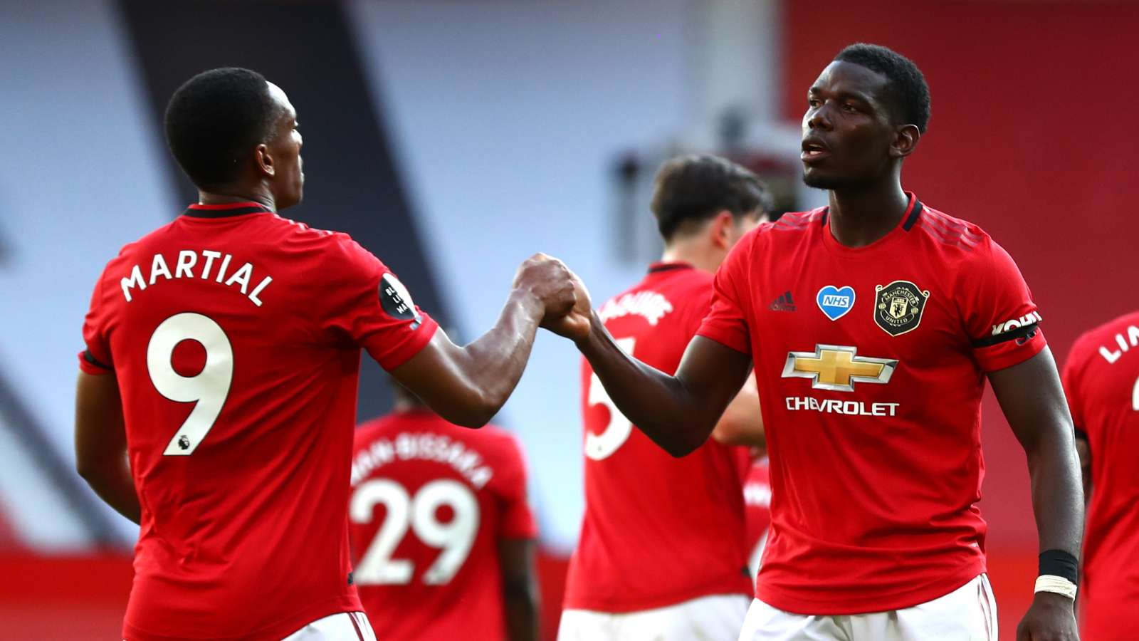Anthony Martial, Paul Pogba, Man Utd