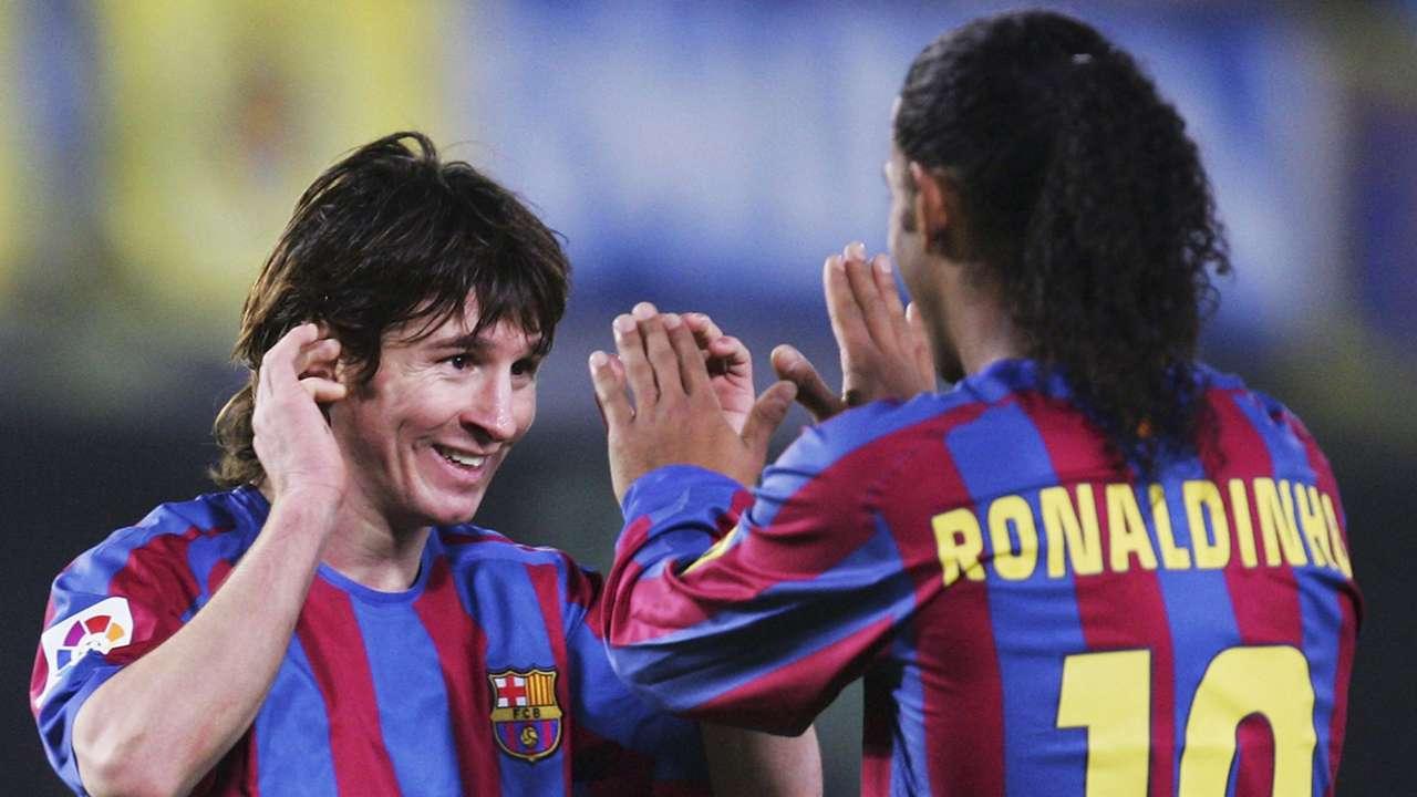 Lionel Messi Ronaldinho Barcelona