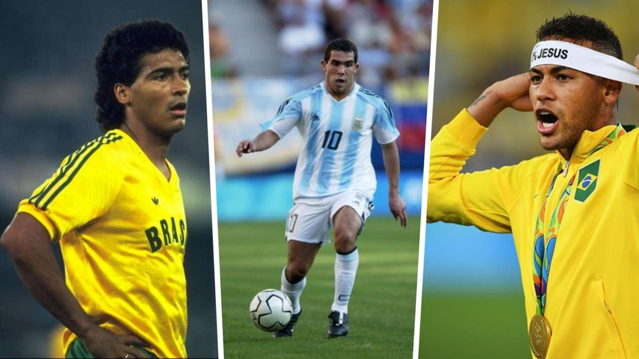 Romario, Carlos Tevez, Neymar, Olympics