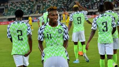 Super Eagles celebrate - Nigeria vs Benin