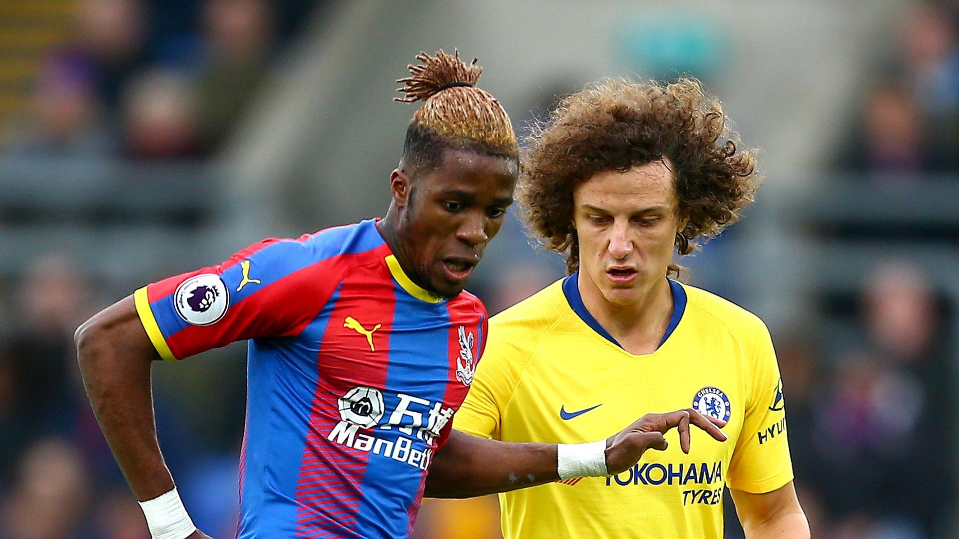 Wilfried Zaha David Luiz Crystal Palace Chelsea 30122018