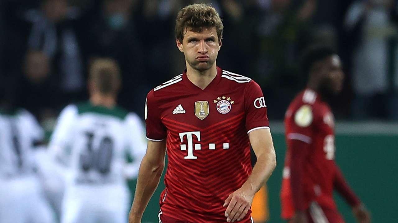 Thomas Muller Borussia Monchengladbach Bayern DFB Pokal 27102021