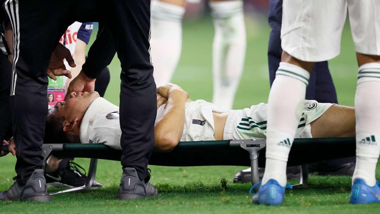 Lozano Mexico injury Gold Cup 2021