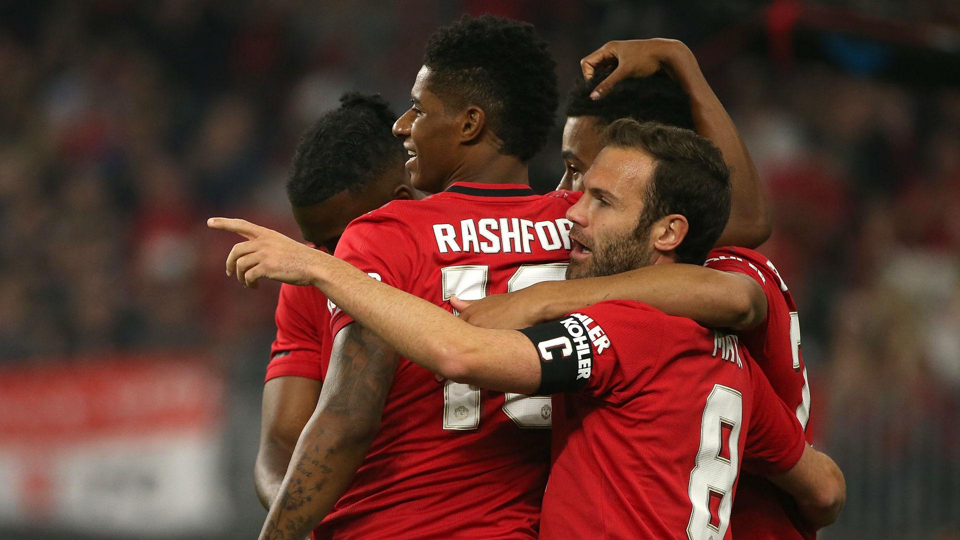 Marcus Rashford Juan Mata Manchester United pre-season 2019