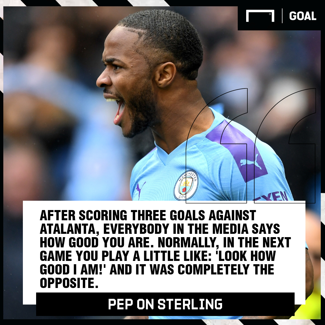 Raheem Sterling Pep Guardiola Manchester City PS