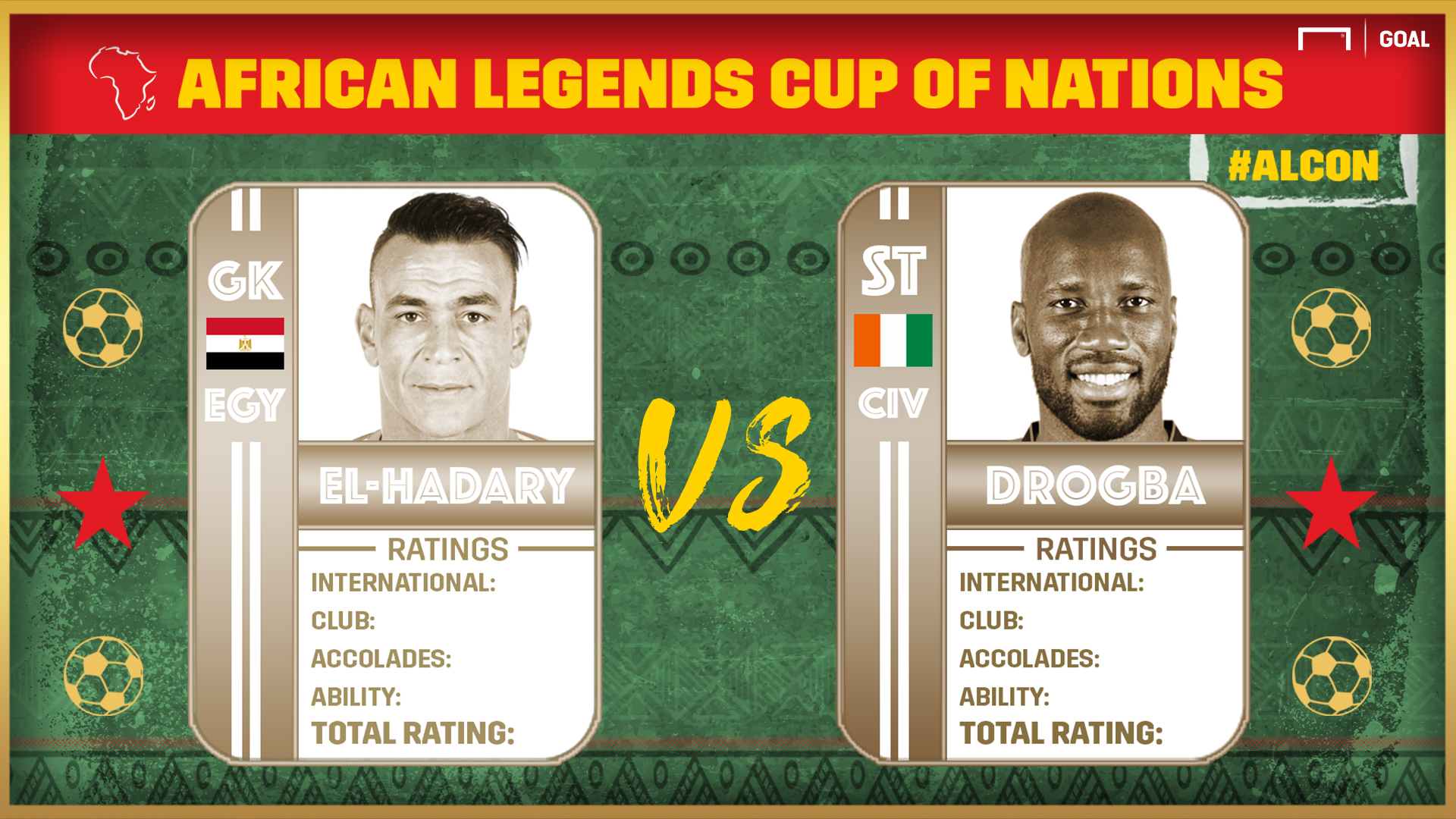 African Legends Cup of Nations: El-Hadary vs Drogba
