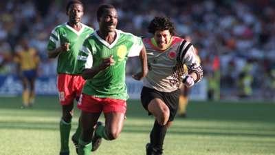 Roger Milla Rene Higuita 1990 World Cup