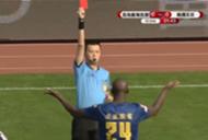 Yaya Toure Qingdao Huanghai Red card