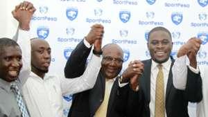 Maurice Amhwa and Sakaja of AFC Leopards