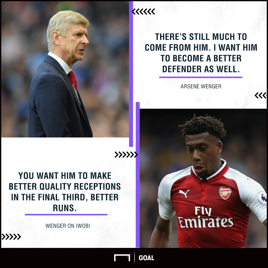 Wenger on Iwobi