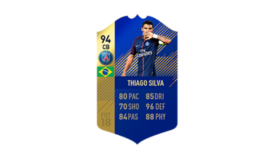 FIFA 18 Ligue 1 Team of the Season Thiago Silva
