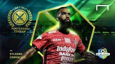 Penyerang Terbaik Liga 1 2017 - Sylvano Comvalius