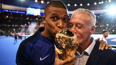 Kylian Mbappe Didier Deschamps France celebrations