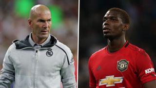 Zinedine Zidane Paul Pogba Real Madrid Manchester United