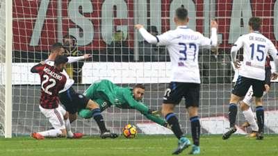 Bryan Cristante Gianluigi Donnarumma Milan Atalanta Serie A