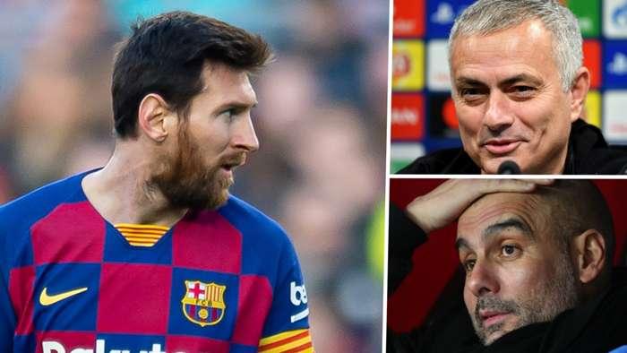 Lionel Messi, Jose Mourinho, Pep Guardiola