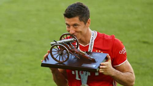 Robert Lewandowski Bayern Munich Bundesliga top scorer 2019-20