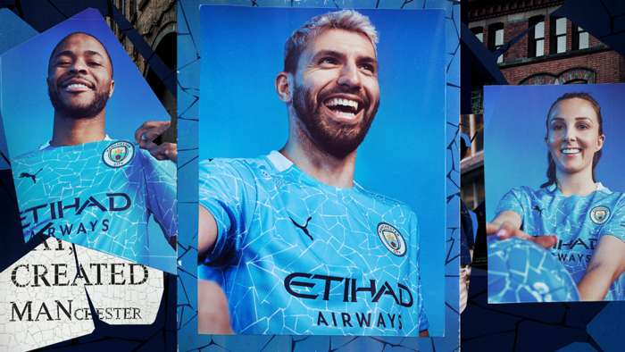 Man City kit unveil 2020-21