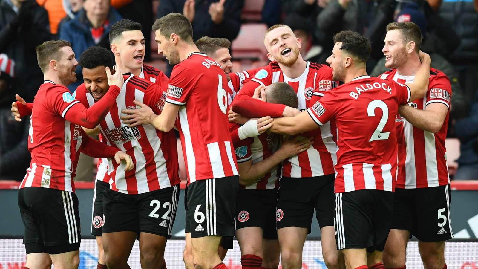 Sheffield United celebrate 2019-20
