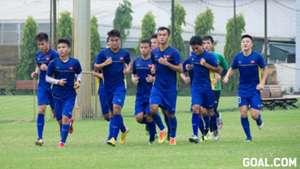 U19 Việt Nam tập luyện tại Trung tâm bóng đá VFF chiều 26/8