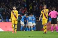 Piqué Busquets Napoli Barcelona Champions League