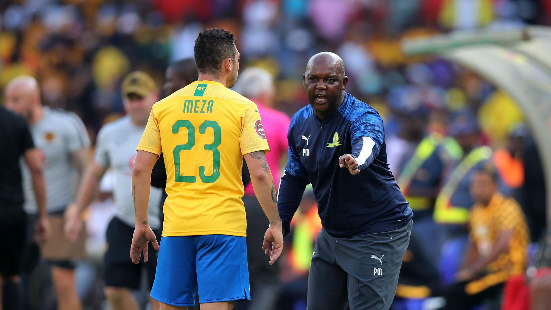 Ngcongca: Mamelodi Sundowns coach Mosimane is at the same level with Belgium's Vercauteren