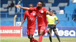 Bandari defender Felly Mulumba celebrates v KCB.