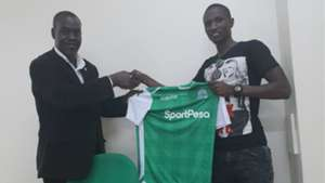 Kenneth Muguna and Omondi Aduda of Gor Mahia.