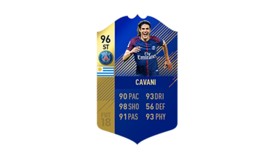 FIFA 18 Ultimate Team of the Season Cavani