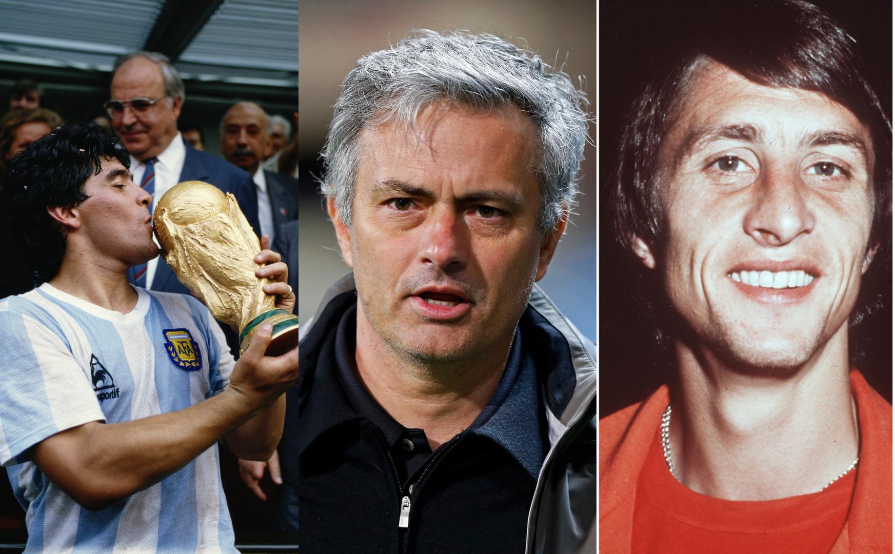Maradona, Johan Cruyff and Jose Mourinho are Alejandro Menendez's all-time favourites