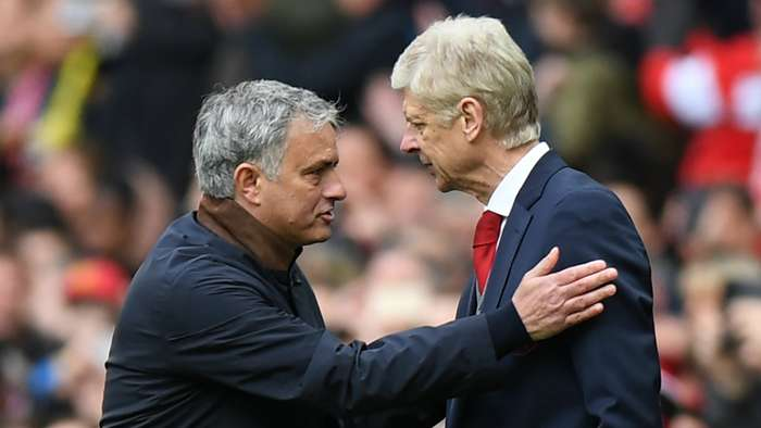 Arsene Wenger Jose Mourinho Manchester United Arsenal