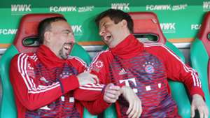 Franck Ribery Thomas Muller Bayern Munich Augsburg