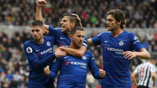 Eden Hazard Jorginho Cesar Azpilicueta Marcos Alonso Newcastle United Chelsea Premier League 260818