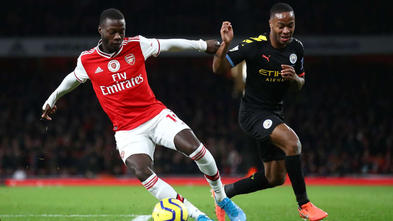 Nicolas Pepe Raheem Sterling Arsenal Manchester City 2019-20