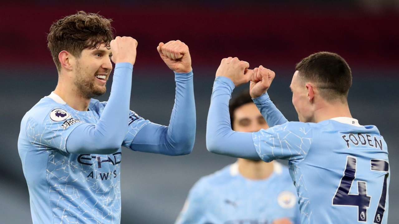 John Stones Man City vs Crystal Palace Premier League 2020-21